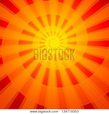 Red Radiant luminous abstract background. Vector illustration