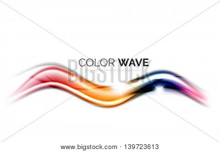 abstract color wave design element