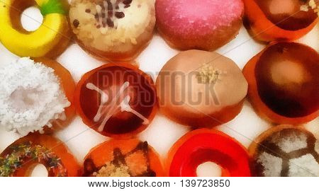 Sweet Fresh Donuts. Illustration