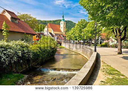 Green town of Samobor view northern Croatia