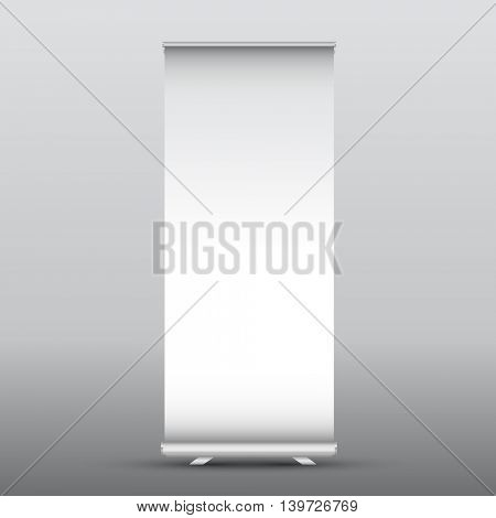 Illustration of a blank roll up advertising banner