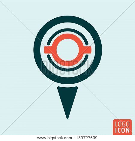 Location map pin icon. Gps navigation symbol. Vector illustration.