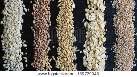 agriculture, background, black, breakfast, brown, buckwheat, grain, cereals,