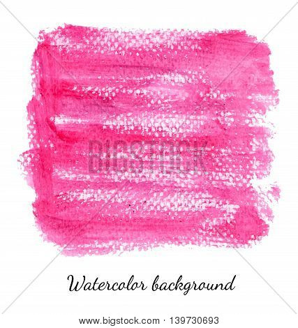 Hand drawn watercolor background for business presentation. Vector illustration.