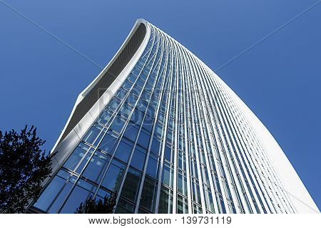 Abstract angle of a modern office building