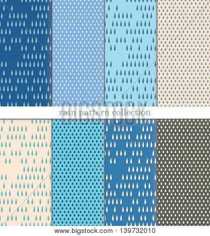 vector seamless pattern collection of rain and umbrella