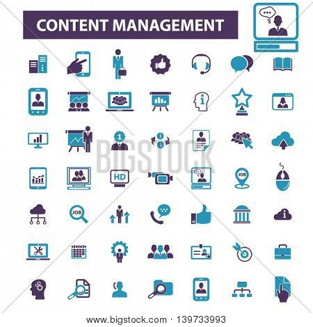 content management icons