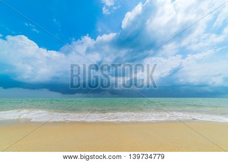 Storm clouds over beautiful adaman sea in Thailand