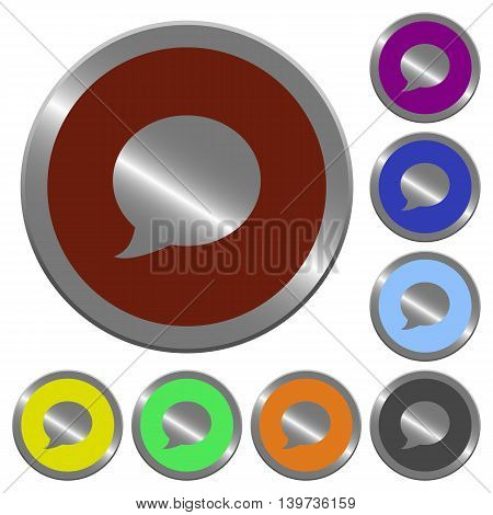 Set of color glossy coin-like Blog comment buttons.