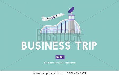 Business Trip Flights Travel Information Concept