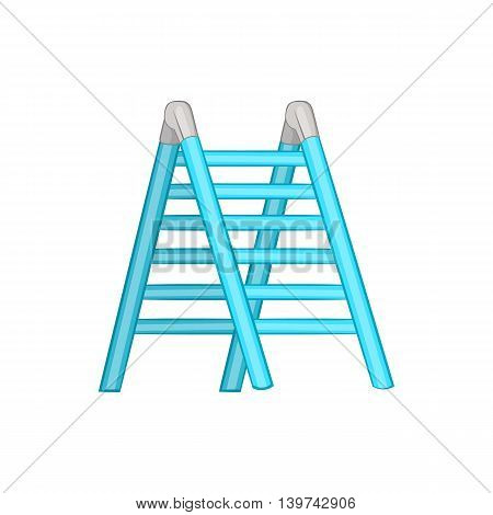 Ladder icon in cartoon style isolated on white background. Equipment symbol