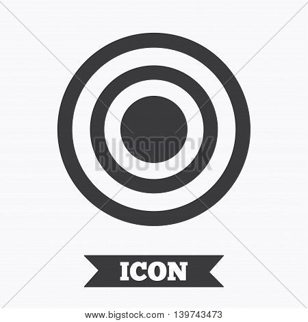 Target aim sign icon. Darts board symbol. Graphic design element. Flat target symbol on white background. Vector