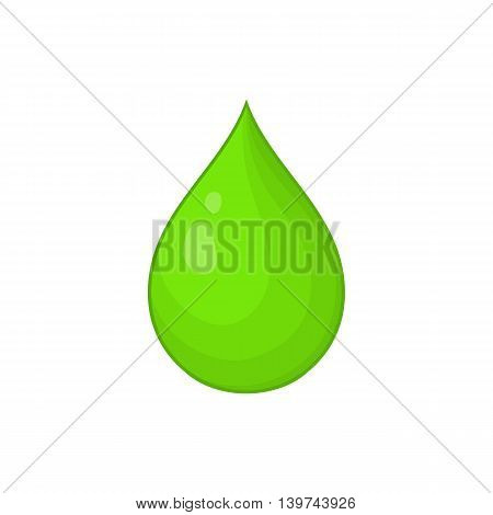 Drop of water icon in cartoon style isolated on white background. Ecology symbol