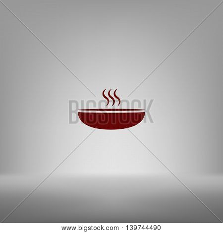Hot Proper Meal Plate Vector Icon