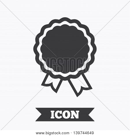 Award icon. Best guarantee symbol. Winner achievement sign. Graphic design element. Flat winner symbol on white background. Vector