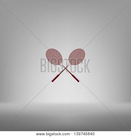 Tennis Racket Silhouettes Vector Icon