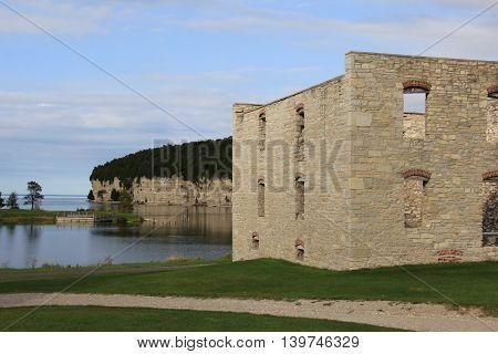 Ruins of a ghost town in Michigan's Upper Peninsula