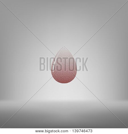 Vector Illustration Of Black Drop