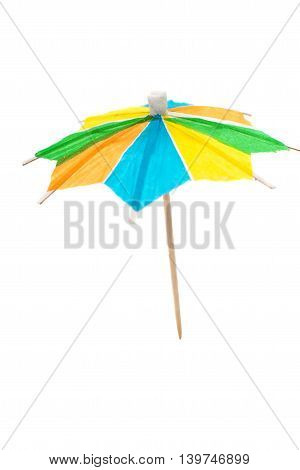 drink cocktail umbrella isolated on white background
