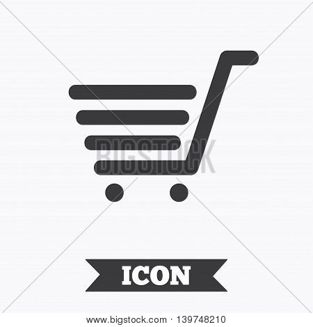 Shopping Cart sign icon. Online buying button. Graphic design element. Flat shopping cart symbol on white background. Vector