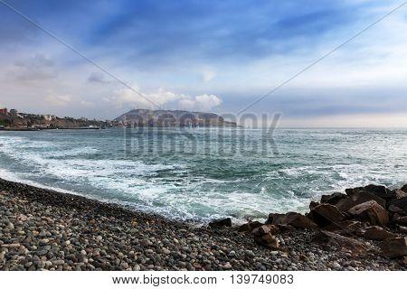 pebble beach ocean, Lima, Peru