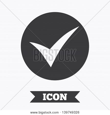 Check sign icon. Yes symbol. Confirm. Graphic design element. Flat check symbol on white background. Vector