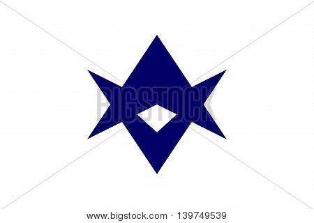 Japan Aichi prefecture Toyota city flag illustration