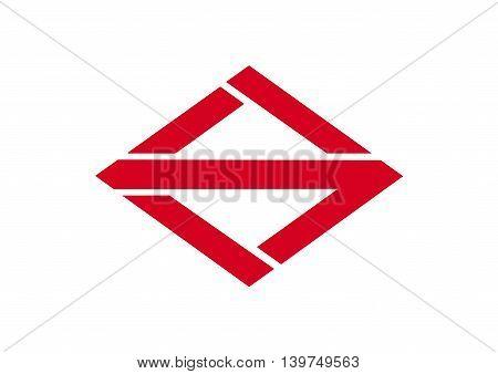 Japan Kanagawa prefecture Yokohama city flag illustration