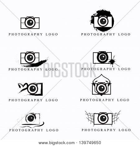 Photography logo design isolated on white background