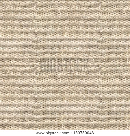 Seamless sandy brown canvas paper background. Endless fabric pattern. The high resolution blank texture.
