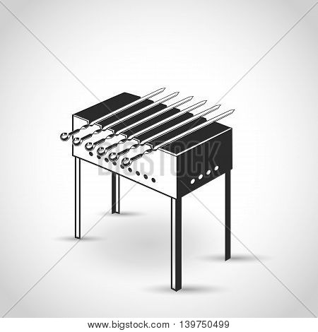 brazier icon in a flat design on a white background with shadow