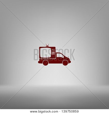 Flat Paper Cut Style Icon Of Vehicle