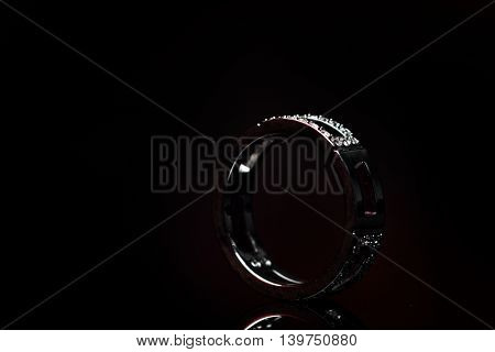 ring isolated on black background