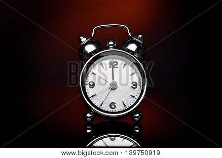 alarm clock in studio