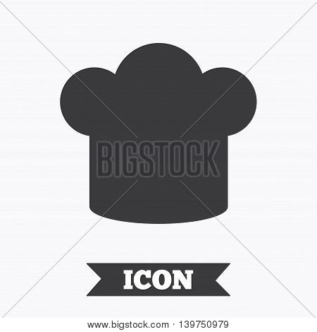Chief hat sign icon. Cooking symbol. Cooks hat. Graphic design element. Flat cook symbol on white background. Vector
