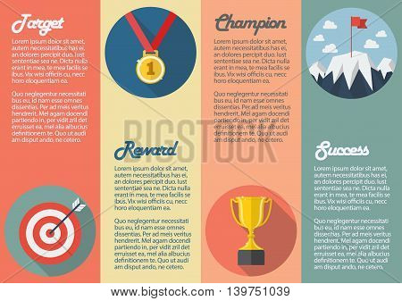 Sport winner icon infographic. Business concept vector illustration