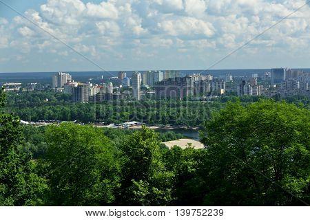 Beautiful panoramic view of city