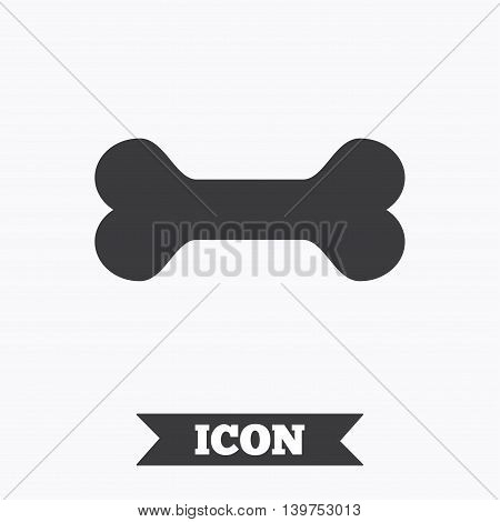 Dog bone sign icon. Pets food symbol. Graphic design element. Flat dog bone symbol on white background. Vector