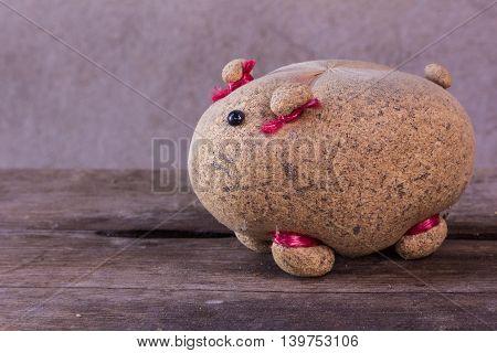 still life with pig doll , art