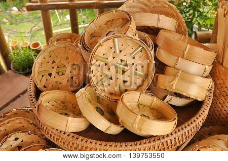 Bamboo weave is an accessory in the kitchen