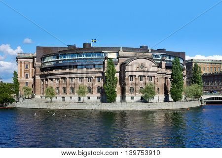 The parliament building (Riksdagen) , Stockholm, Sweden