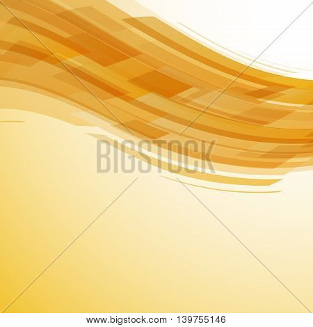 Abstract yellow wave technology background, stock vector