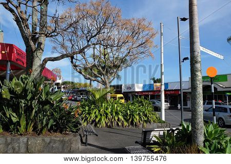 KERIKERI, NEW ZEALAND (NZ) - June 24, 2016: Kerikeri town is a thriving rural town, featuring shops and a one-way traffic system. It is located in the Far North District of Northland in the North Island.