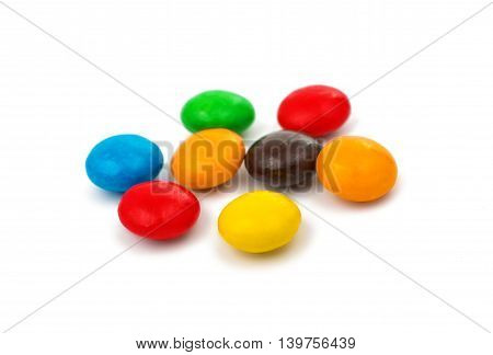 chocolate color buttons on a white background