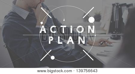 Action Plan Strategy Innovation Active Motivation Concept