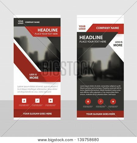 Red black Business Roll Up Banner flat design template Abstract Geometric banner template Vector illustration set abstract presentation brochure flyer template vertical template vector