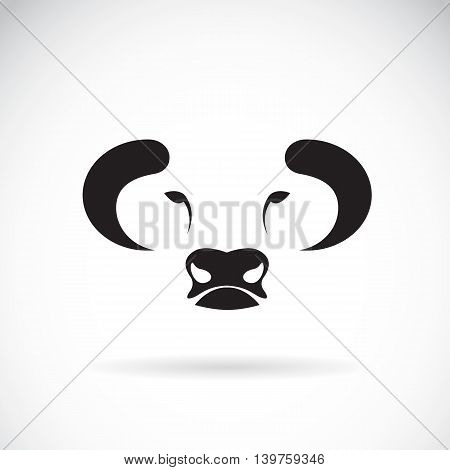 Vector of bull face design on white background. Vector bull for your design.