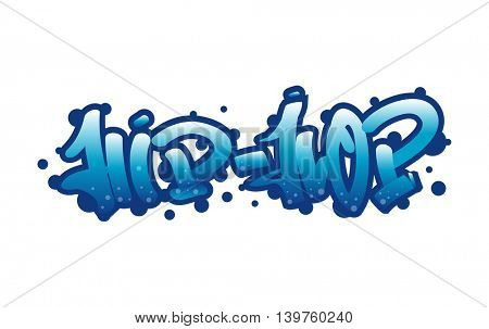 Graffity lettering Urban street art. Street style words hip-hop. Wall painting. Vector Illustration