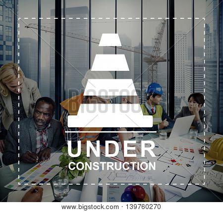 Under Construction Technical Problems Progress Concept