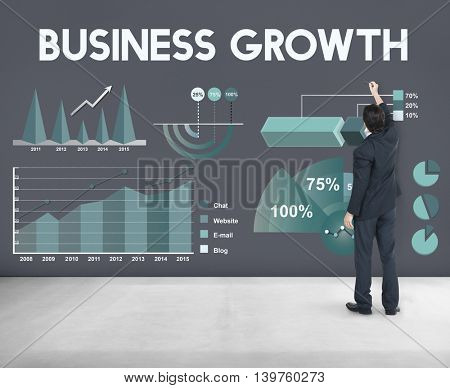 Business Growth Analytics Marketing Report Concept